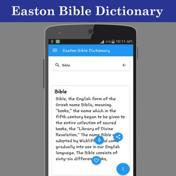 Easton Bible Dictionary apk screenshot