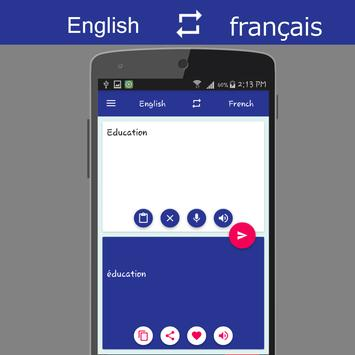 English - French Translator apk screenshot