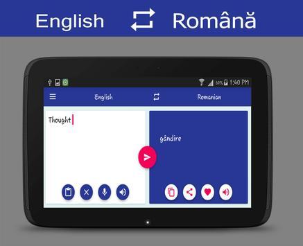 English - Romanian Translator apk screenshot