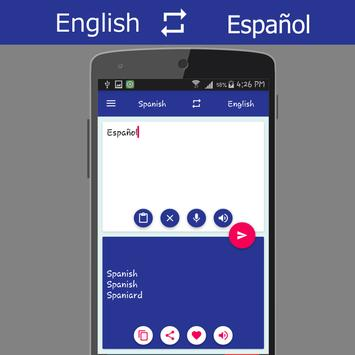 English - Spanish Translator apk screenshot
