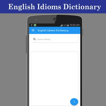 English Idioms Dictionary poster