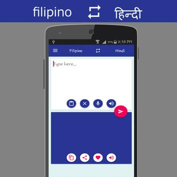 Filipino - Hindi Translator poster