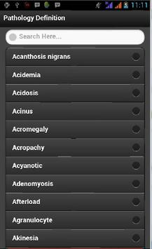 Pathology Definition apk screenshot