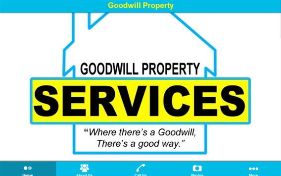 Goodwill Property Services poster