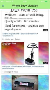 Whole Body Vibration poster