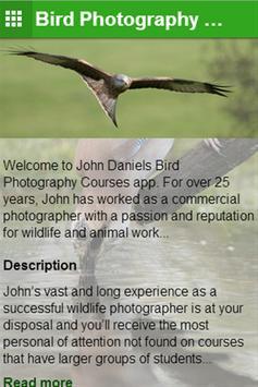 Bird Photography Courses apk screenshot