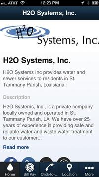 H2O Systems, Inc. poster