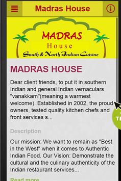 Madras House Perth poster