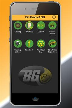 BG Products of GB poster