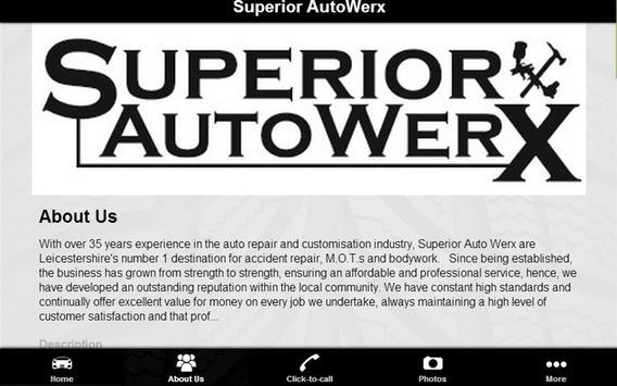 Superior Auto werx apk screenshot