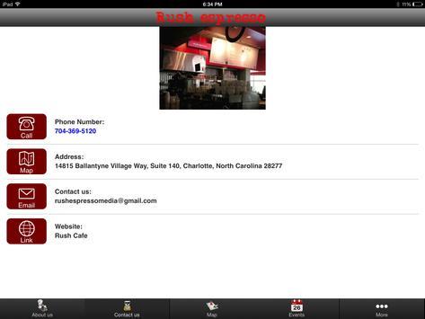 Rush Espresso Cafe apk screenshot