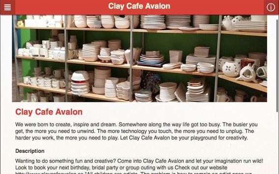 Clay Cafe Avalon apk screenshot