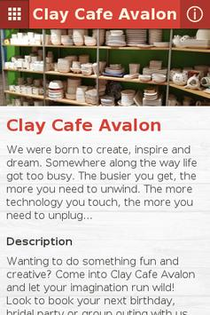 Clay Cafe Avalon poster