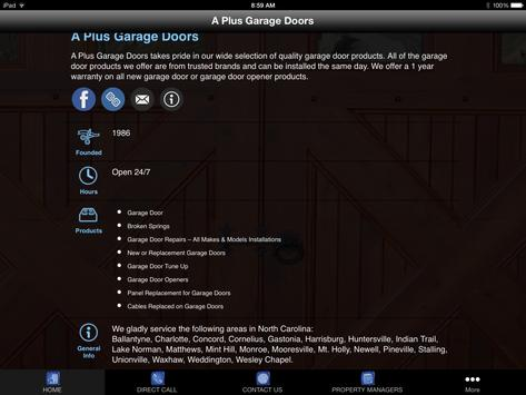 A Plus Garage Doors apk screenshot