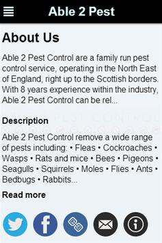 Able 2 Pest Control Services poster