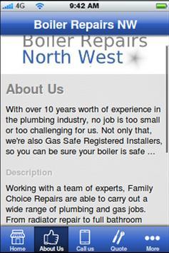 Boiler Repairs NW apk screenshot