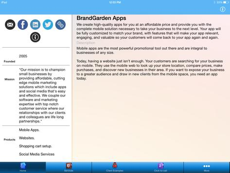 BrandGarden Agency apk screenshot