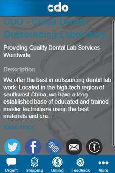 China Dental Outsourcing Lab apk screenshot