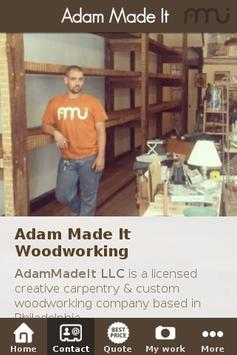 Adam Made It Woodworking apk screenshot