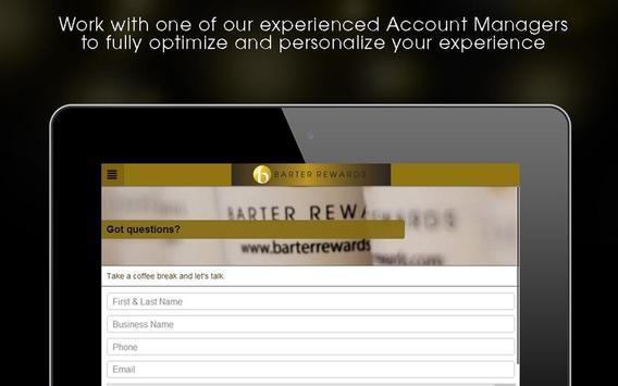 Barter Rewards poster