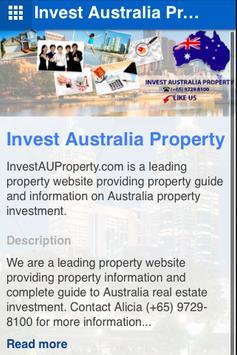 Invest Australia Property poster