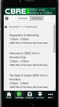 CBRE Tech Day poster