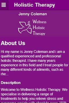 Wellness Holistic Therapy apk screenshot