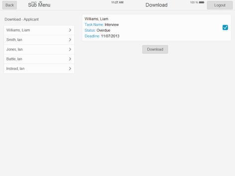PeoplePlanner - DataCapture apk screenshot