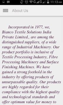 Bianco Textile Machinery apk screenshot