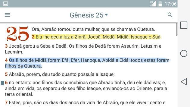 Bíblia Sagrada Evangelica JFA apk screenshot