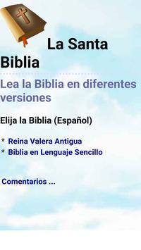 Biblia en Español Multi Opción poster
