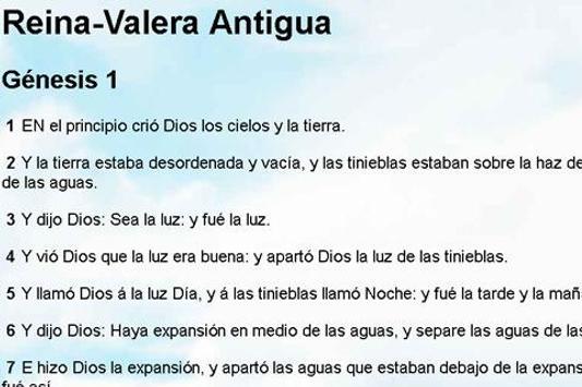 Biblia Reina Valera Antigua apk screenshot