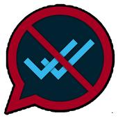 No Double Check Blue icon