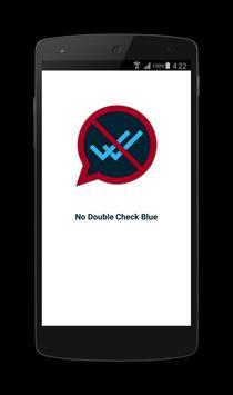 No Double Check Blue apk screenshot