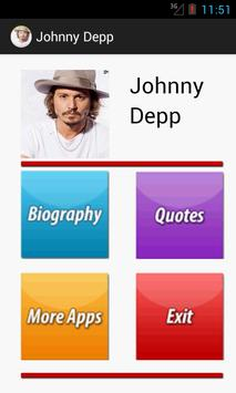 Johnny Depp Biography & Quotes poster