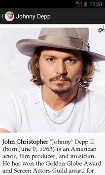 Johnny Depp Biography & Quotes apk screenshot