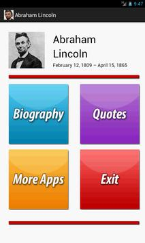 A. Lincoln Biography & Quotes poster