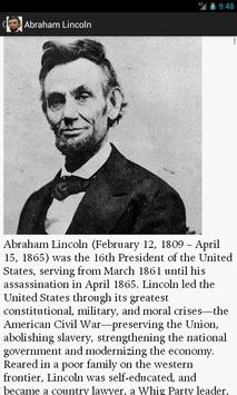 A. Lincoln Biography & Quotes apk screenshot