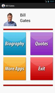 Bill Gates Biography & Quotes poster