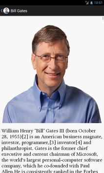 Bill Gates Biography & Quotes apk screenshot