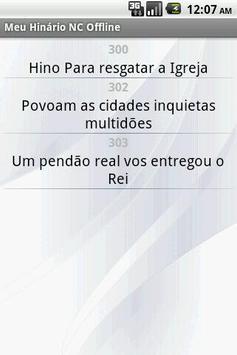 Meu Hinário NC Offline apk screenshot