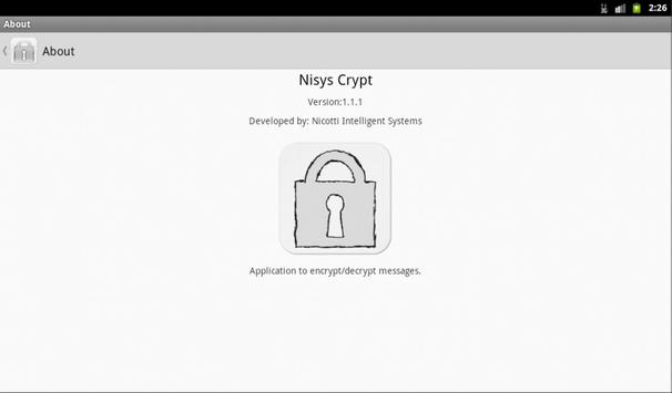 Nisys Crypt apk screenshot