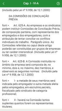 Código de Leis Trabalhistas apk screenshot
