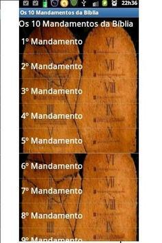 Os 10 Mandamentos da Bíblia poster