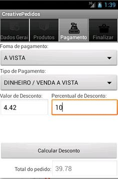 Creative Pedidos apk screenshot