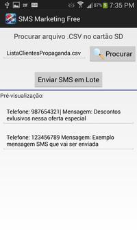 SMS Marketing Free apk screenshot