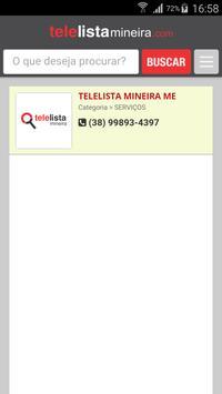 TeleLista Mineira apk screenshot