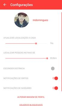 Screamchat - chat localização apk screenshot