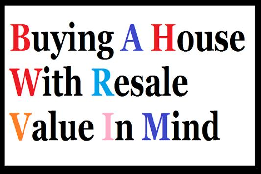 Buy House With Resale value poster