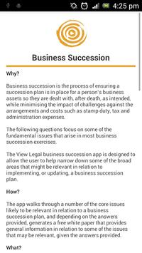 View Legal Business Succession poster